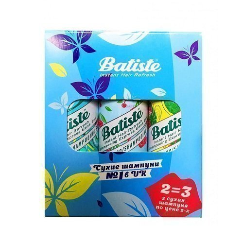Batiste Набор Шампунь Сухой Cherry Fruity & Cheeky + Tropical Coconut & Exotic + Original Clean & Classic